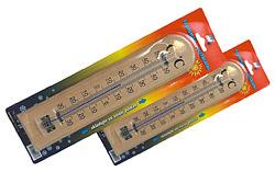 Teploměr pokojový rustikální dřevěný malý 20cm
