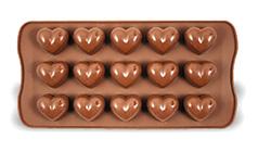 Silikonová forma SWEETTRUFFLE - srdíčka, na čokoládu,