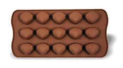 Silikonová forma SWEETTRUFFLE - mušličky, na čokoládu,