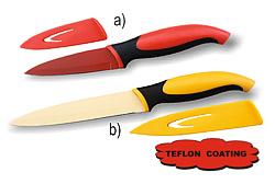 Nůž ocelový TEFLON s pouzdrem loupací 9cm
