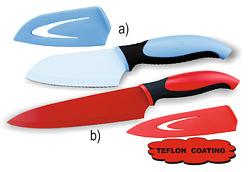 Nůž ocelový TEFLON s pouzdrem kuchařský 20,5cm