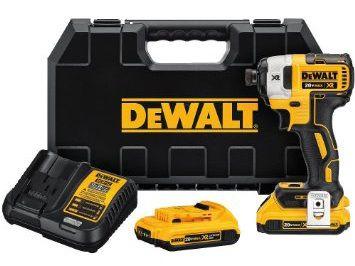 DeWalt DCF887D2-QW 18V XR bezuhlíkový rázový utahovák 2x aku Li-Ion / 5,0 Ah / 205 Nm / uchycení 1/4´´ / M12