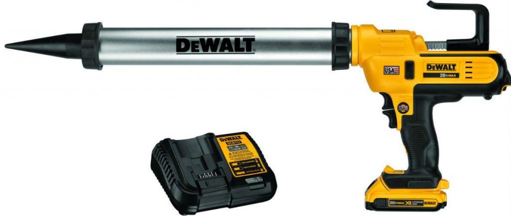 DeWalt DCE580D1-QW 18V výtlačná pistole, 1 x aku, 2,0 Ah, nabíječka