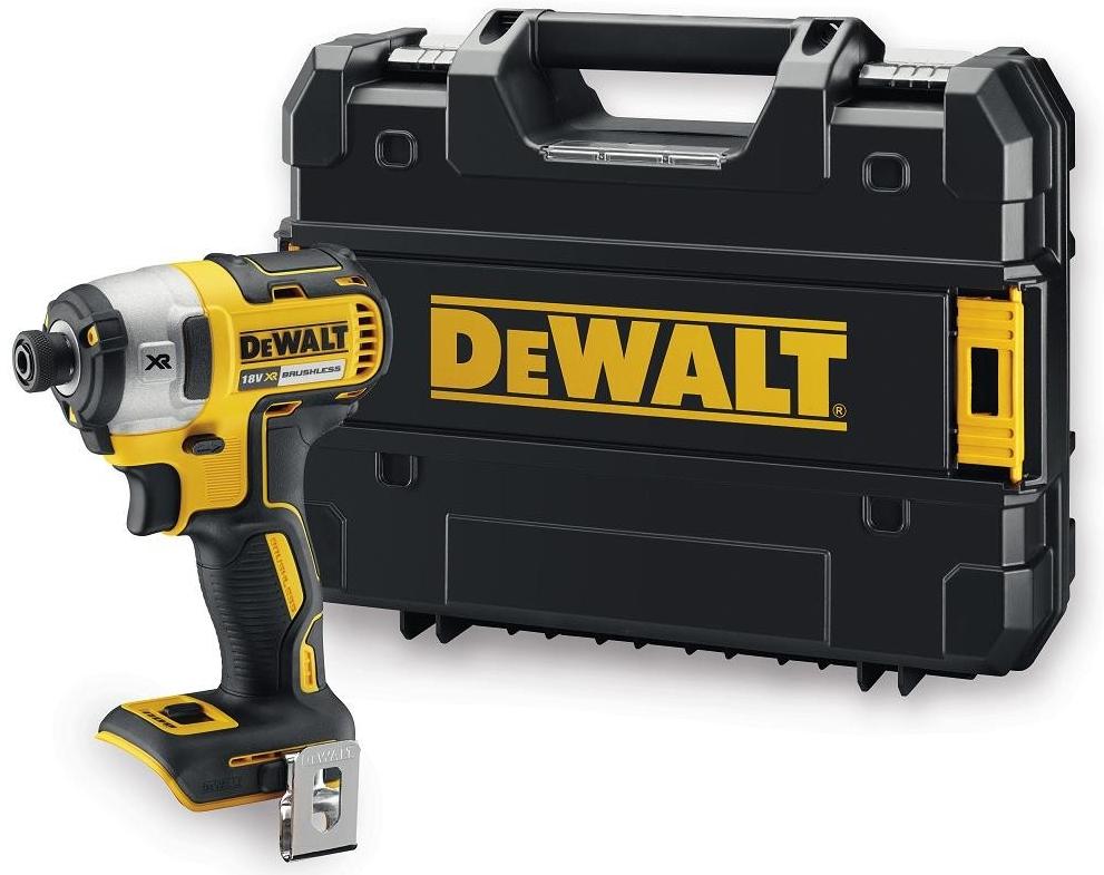 DeWalt DCF887NT-XJ 18V XR bezuhlíkový rázový utahovák / 205 Nm / uchycení 1/4´´ / M12 / bez nabíječky a baterií v kufru TSTAK