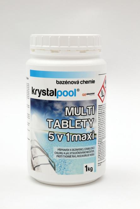 Krystalpool Multi tablety 5v1 maxi 1 kg (200g) multifunkční