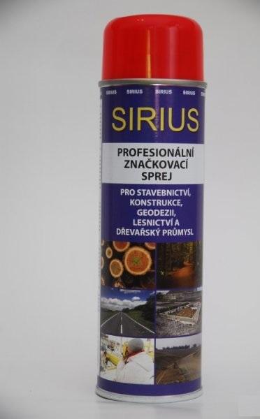 Značkovací sprej Sirius Standard 500ml červený
