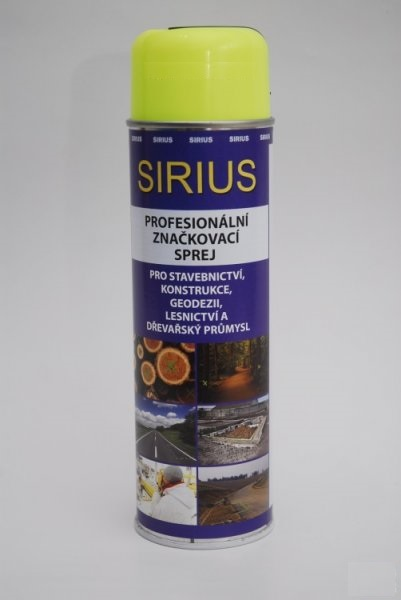 Značkovací sprej Sirius Standard 500ml žlutý