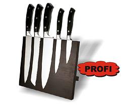 Sada ocelových nerezových nožů PROFI + dřevěný magnetický stojan